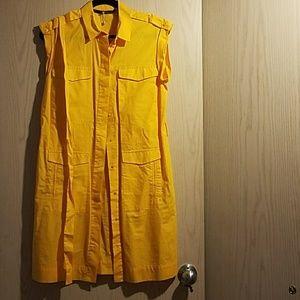 Zara Basic button up shirt dress